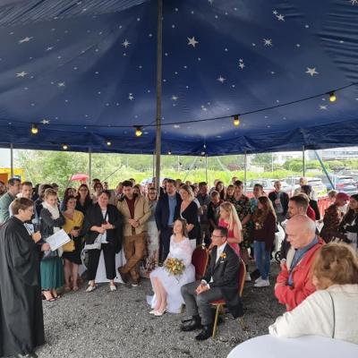 Mariage Avenches avec le cirque Helvetia le 3 juillet 2021