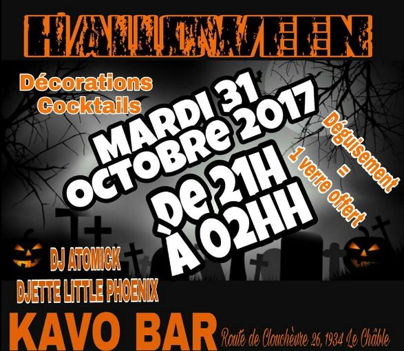 Kavo Bar 31 octobre 2017 Mister Atomick et Little Phoenix