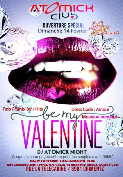 Soirée Valentine Atomick Club