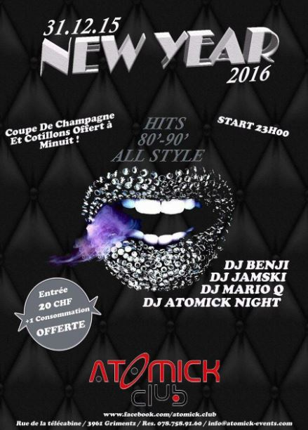 Atomick Club Nouvel An 2016