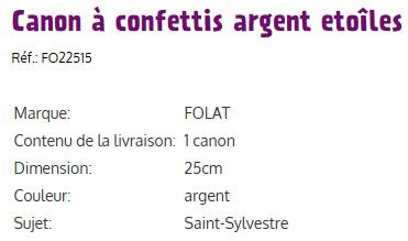 Canons a confettis etoiles ii