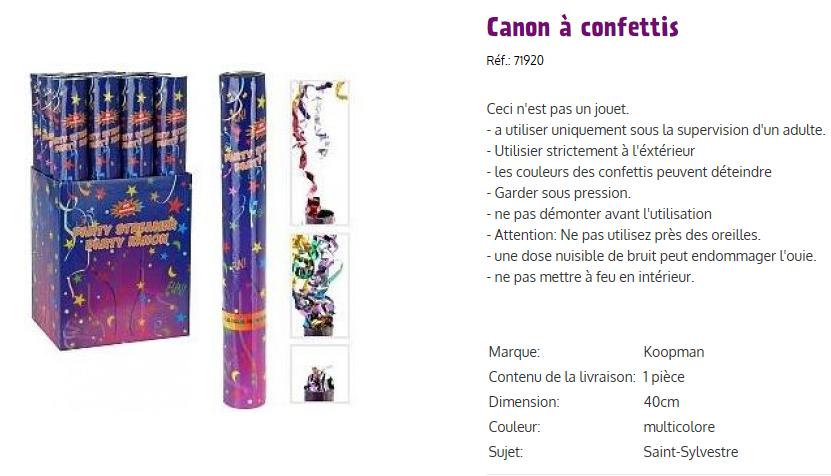 Canons a confettis iii