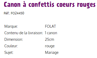 Canons e confettis coeurs ii