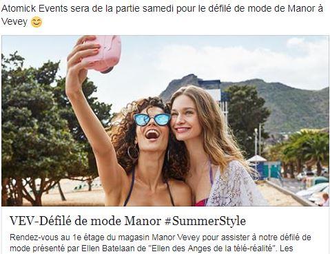 Défilé de mode Manor, Vevey
