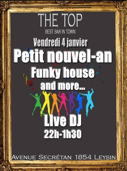 Petit nouvel an disco, funky house top Club
